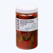 Tobagi Mustard Leaf Kimchi (Gat Kimchi) 26oz(737g), 토바기 갓김치 26oz(737g), kimchi in a jar