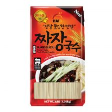 HAIO Thick Wheat Noodle Jajang Guk Su 3lbs(1.36kg), HAIO 짜장국수 3lb(1.36kg)