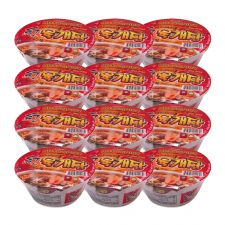 Ohsung Hot & Spicy Bowl Noodle Soup with Soy Peptide 3.03oz(86g) 12 Cups, 오성 홍 육개장 대두함유 사발면 3.03oz(86g) 12컵
