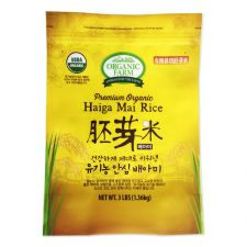 Organic Farm Premium Organic Haiga Mai Rice 3lb(1.36kg), 유기농장 유기농 안심 배아미 3lb(1.36kg), 有機農場 Premium Organic Haiga Mai Rice 3lb(1.36kg)