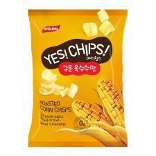 Ohsung Yes! Chips! Roasted Corn Crisps 5.11oz(145g), 오성 예스칩스 구운 옥수수맛  5.11oz(145g), Ohsung 烤玉米片 5.11oz(145g)
