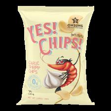 Ohsung Yes! Chips! Garlic Shrimp Chips 3.35oz(95g), 오성 예스칩스 갈릭새우맛 3.35oz(95g), Ohsung 蒜香蝦片 3.35oz(95g)