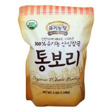Organic Farm Organic Whole Barley 3lb(1.36kg), 유기농장 100% 유기농 안심잡곡 통보리  3lb(1.36kg), 有機農場 Organic Whole Barley 3lb(1.36kg)