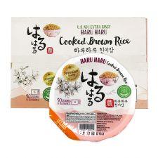 Haru Haru Cooked Brown Rice Premium 7.4oz(210g) 12 Packs, 하루하루 현미밥 프리미엄 7.4oz(210g) 12팩, Haru Haru 即食糙米飯 7.4oz(210g) 12盒