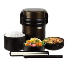 Hello Thermos Lunch Jar Brown 60.87 fl.oz(1800ml), 헬로 보온 도시락 브라운 60.87 fl.oz(1800ml)