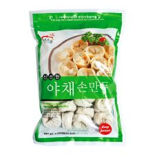 Haioreum Vegetable Dumpling 2.65lb(1.2kg), 해오름 신선한 야채 손만두 2.65lb(1.2kg), Haioreum 蔬菜水餃 2.65lb(1.2kg)