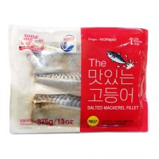 Tong Tong Bay Frozen Salted Mackerel Fillet 13oz(375g), 통통배 The 맛있는 고등어 자반 필렛 냉동 13oz(375g)