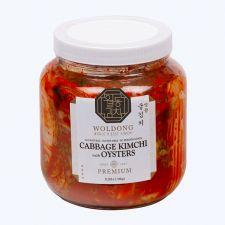 Woldong Harvest Premium Cabbage Kimchi with Oyster 3lb(1.36kg), 월동 명품 특선 굴김치 3lb(1.36kg)