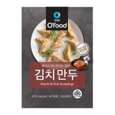 Chung Jung One O'Food Kimchi and Pork Dumplings 1.5lb(680g), 청정원 오푸드 김치만두 1.5lb(680g), 淸淨園 O'Food Kimchi & Pork Dumplings 1.5lb(680g)