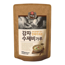 Beksul Potato Starch Flour Mix For Dough Flakes 1.1lbs(500g), 백설 감자 수제비 가루 1.1lb(500g)