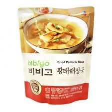 CJ Bibigo Dried Pollock Soup 17.6oz(500g), CJ 비비고 황태해장국 17.6oz(500g)