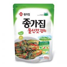 Chongga Pickled Mustard Leaves and Stems Kimchi (Dolsan Kat Kimchi) 17.6oz(500g), 종가집 돌산 갓김치 17.6oz(500g)