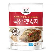Chongga Seasoned Perilla Leaves 7oz(200g), 종가집 옛맛깻잎지 7oz(200g)