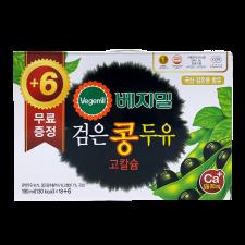 DR. J Vegemil Black Bean High Calcium Soymilk  6.43oz(190ml) 24 Packs, 정식품 베지밀 검은콩 고칼슘 두유 6.43oz(190ml) 24팩