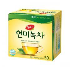 Dongsuh Brown Rice Green Tea 75g(1.5g x 50T), 동서 현미녹차 500g(10g x 50티백)