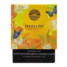 Osulloc Stone Fence Enveloped in Tangerine Flower Tea 0.63oz(0.06oz X 10 Tea Bags), 오설록 귤꽃향을 품은 우잣담 18g(1.8g X 10티백)
