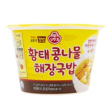 Ottogi Cooked Rice and Dried Pollack Soup with Bean Sprouts 9.57oz(271.5g), 오뚜기 황태콩나물 해장국밥 컵밥  9.57oz(271.5g), 不倒翁 Cooked Rice and Dried Pollack Soup with Bean Sprouts 9.57oz(271.5g)