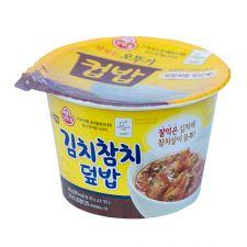 Ottogi Cooked Rice Kimchi and Tuna Flavor 9.88oz(280g), 오뚜기 김치참치 덮밥 컵밥 9.88oz(280g)