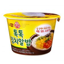Ottogi Cooked Rice and Fish Roe Sauce with Kimchi 7.83oz(222g), 오뚜기 톡톡 김치알밥 컵밥 7.83oz(222g)