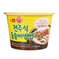 Ottogi Cooked Rice Bibimbap 8.22oz(233g), 오뚜기 맛있는 전주식 돌솥비빔밥 컵밥 8.22oz(233g)