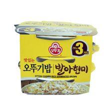 Ottogi Cooked Brown Rice 7.4oz(210g) 3 Packs, 오뚜기 맛있는 발아현미밥 7.4oz(210g) 3팩