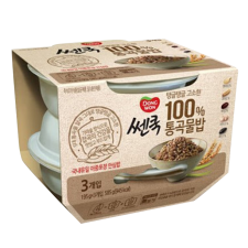 Dongwon Cooked Whole Grain Rice 6.87oz(195g) 3 Packs, 동원 쎈쿡 통곡물밥 6.87oz(195g) 3개입