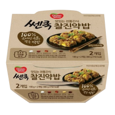 Dongwon  Cooked Flavored Glutinous Rice 6.7oz(190g)X2, 동원 쎈쿡 찰진약밥 6.7oz(190g)X2