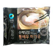 Chung Jung One Pillow Shrimp Hakao 5.6oz(160g), 청정원 수제 딤섬 통새우 하가우 5.6oz(160g)
