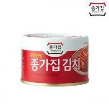 Jongga Canned Kimch (Sliced) 5.64oz(160g), 종가집 캔김치 깔끔한맛 5.64oz(160g)