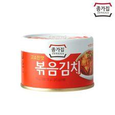 Jongga Canned Kimch (Fried) 5.64oz(160g), 종가집 캔볶음김치 고소한맛 5.64oz(160g)