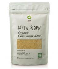 Chung Jung One Organic Cane Sugar Dark 1lb(454g), 청정원 오푸드 유기농 흑설탕 1lb (454g)