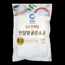 Chung Jung One Natural Premium Sea Salt for Kimchi 2.2lb(1kg), 청정원 순수천혜염 천일염 굵은 소금 2.2lb(1kg)