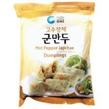 Chung Jung One Hot Pepper Japchae Dumplings 24oz(680g), 청정원 고추잡채 군만두 24oz(680g)