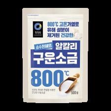 Chung Jung One Roasted Solar Salt 1.1lbs (500g), 청정원 순수천혜염 구운소금 1.1lbs (500g)