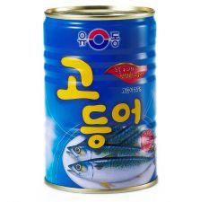 Yu Dong Canned Mackerel 14.1oz(400g), 유동 고등어캔 14.1oz(400g), Yu Dong 青花鱼罐頭 14.1oz(400g)