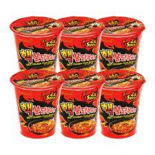 Samyang Extra Hot Chicken Flavor Ramen Cup 2.29oz(65g) 6 Cups, 삼양 핵불닭볶음면 컵 2.29oz(65g) 6컵