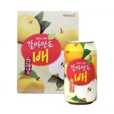 Haitai Crushed Pear Juice 8 fl.oz(238ml) 12 Cans, 해태 갈아만든 배 8 fl.oz(238ml) 12캔, 海太 Crushed Pear Juice 8 fl.oz(238ml) 12 Cans