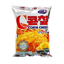Crown Corn Chip Big Size 5.22oz(148g), 크라운 콘칩 군옥수수맛 빅사이즈 5.22oz(148g), 皇冠 玉米片 5.22oz(148g)