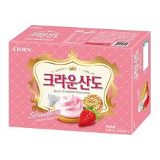 Crown Crown Sando Strawberry Cream Cheese 5.68oz(161g), 크라운 크라운산도 딸기크림치즈 5.68oz(161g), 皇冠 Crown Crown Sando Strawberry Cream Cheese 5.68oz(161g)