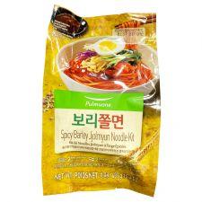 Pulmuone Spicy Barley Korean Style Noodles 15.4oz(437g), 풀무원 보리쫄면 15.4oz(437g)