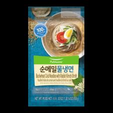 Pulmuone Buckwheat Cold Noodles with Radish Kimchi Broth 30oz(850g), 풀무원 순메밀 물냉면 30oz(850g)