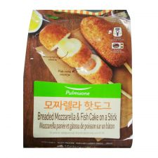 Pulmuone Breaded Mozzarella & Fish Cake on a Stick 2.8oz(80g) 5 Packs, 풀무원 모짜렐라 핫도그 2.8oz(80g) 5 Packs