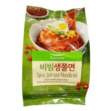 Pulmuone Spicy Jjolmyun Noodle Kit 16.2oz(460g), 풀무원 비빔 생쫄면 16.2oz(460g)