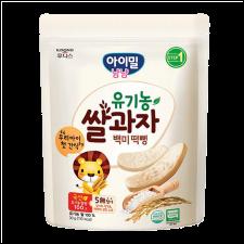 Ildong Organic Baby Rice Snack 1.05oz(30g), 일동 유기농 쌀과자 백미 떡뻥 1.05oz(30g)