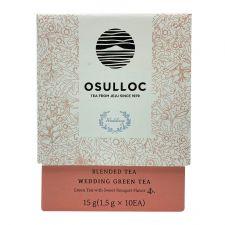 Osulloc Wedding Green Tea 0.52oz(0.05oz X 10 Tea Bags), 오설록 웨딩 그린티 15g(1.5g X 10티백)