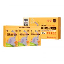 Hansamin Kids Red Ginseng for 3-7 Years 0.67oz(20ml) 30 Pouches, 한삼인 아이홍삼 1단계(3세-7세) 0.67oz(20ml) 30포