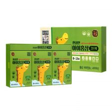 Hansamin Kids Red Ginseng for 8-13 Years 0.85oz(25ml) 30 Pouches, 한삼인 아이홍삼 2단계(8세-13세) 0.85oz(25ml) 30포