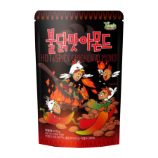 Gilim Hot & Spicy Chicken Almond 7.4oz(210g), 길림 탐스팜 불닭맛 아몬드 7.4oz(210g)
