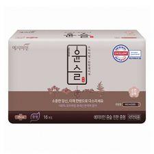 Yejimiin Silk Touch Cotton Sanitary Pads Rich M 16 Pcs, 예지미인 윤슬 진한 중형 16개입, 礼知美人 Silk Touch Cotton Sanitary Pads Rich M 16 Pcs