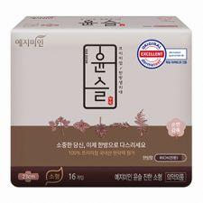 Yejimiin Silk Touch Cotton Sanitary Pads Rich S 16 Pcs, 예지미인 윤슬 순한 중형 16개입, 礼知美人 Silk Touch Cotton Sanitary Pads Rich S 16 Pcs